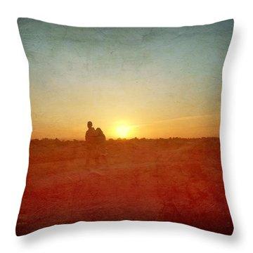 Baylands Sunset Throw Pillow