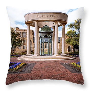 Bayless Plaza  Throw Pillow by Tamyra Ayles