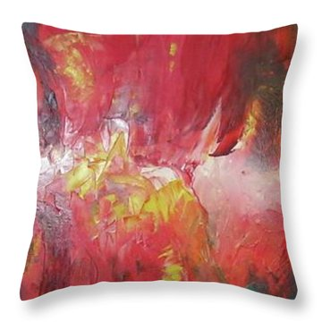 Bayley - Exploding Star Nebuli Throw Pillow by Carrie Maurer