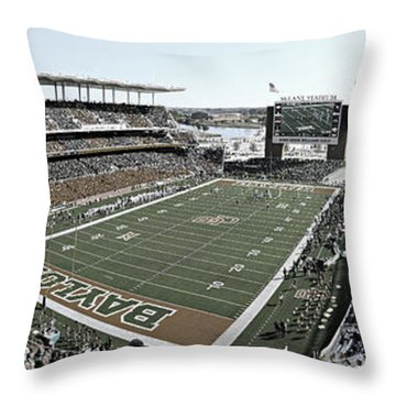 Baylor Gameday No 4 Throw Pillow by Stephen Stookey