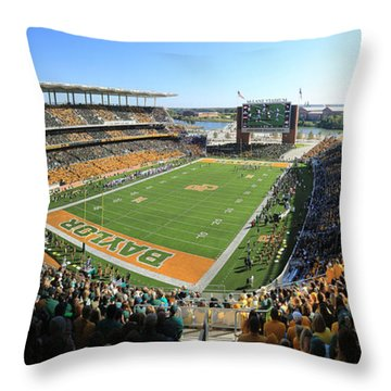 Baylor Gameday No 5 Throw Pillow by Stephen Stookey