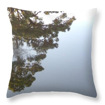 Throw Pillow featuring the photograph Bayou Bubbles by John Glass