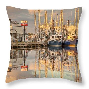 Bayou La Batre' Al Shrimp Boat Reflections 39 Throw Pillow by Jay Blackburn