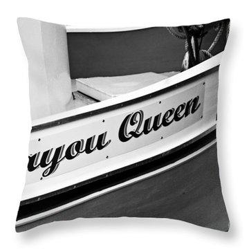 Bayou Queen Throw Pillow by Scott Pellegrin