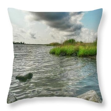 Bayou Sale Fishing Hole Throw Pillow