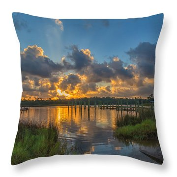 Bayou Sunrise Throw Pillow