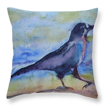Bayside Strut Throw Pillow by Beverley Harper Tinsley