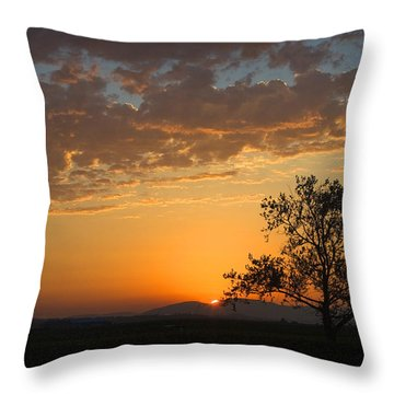 Throw Pillow featuring the photograph Bayview Sunset by Sonya Lang