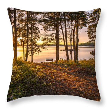 Bayview Sunset Throw Pillow