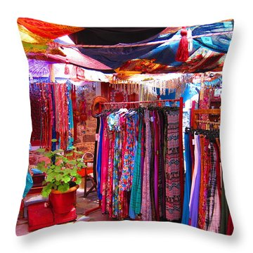 Bazaar Throw Pillow by Andreas Thust