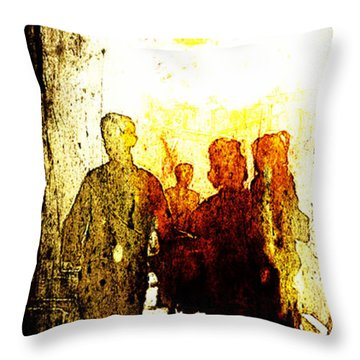 Bazar At Sunset Throw Pillow