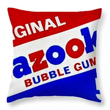 Bazooka Bubble Gum  Throw Pillow