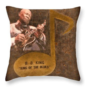 Bb King Note Throw Pillow