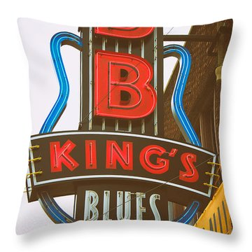 Bb King's Blues Club Throw Pillow