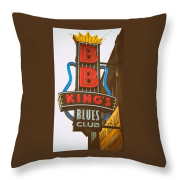 Throw Pillow featuring the photograph Bb King's Blues Club by Mary Lee Dereske