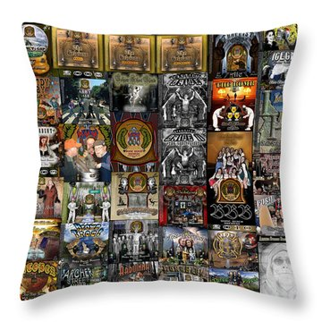 Bbb And Asbc Beer Label Designs Throw Pillow by Tarey Potter