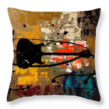 Be A Rock Star Throw Pillow by Carmen Guedez