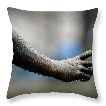 Be Careful Throw Pillow by Dorin Adrian Berbier
