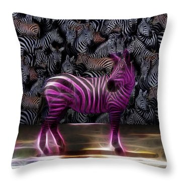 Be Courageous - Be Different - Zebra Throw Pillow