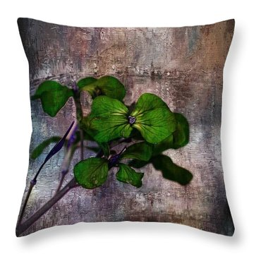 Throw Pillow featuring the mixed media Be Green by Aaron Berg