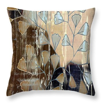 Be-leaf - Beige A05t3a Throw Pillow