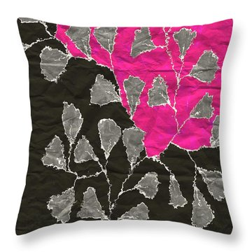 Be-leaf - Pink 03-01at4 Throw Pillow
