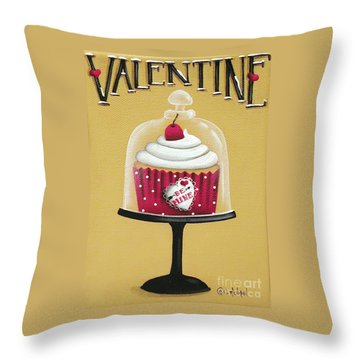 Be Mine Valentine Throw Pillow by Catherine Holman