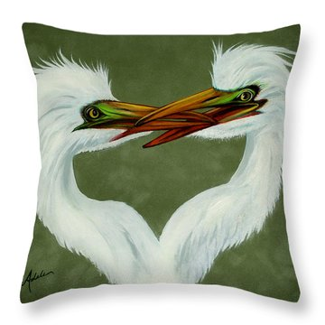 Be My Valentine Throw Pillow by Adele Moscaritolo