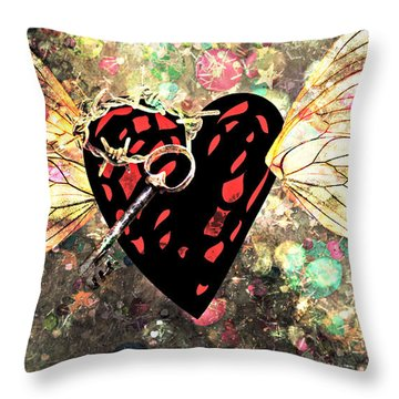 Throw Pillow featuring the photograph Be My Valentine by Ally  White