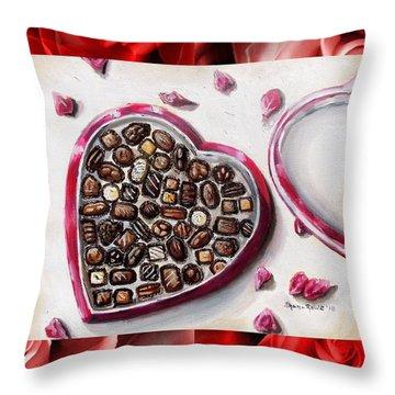 Be My Valentine Throw Pillow by Shana Rowe Jackson