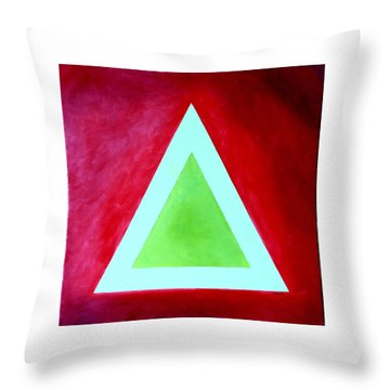 Throw Pillow featuring the painting Be Outstanding by Thomas Gronowski