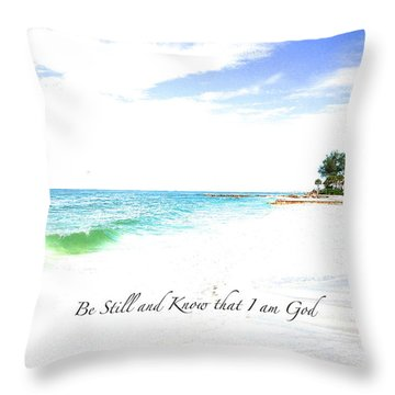 Throw Pillow featuring the photograph Be Still #3 by Margie Amberge