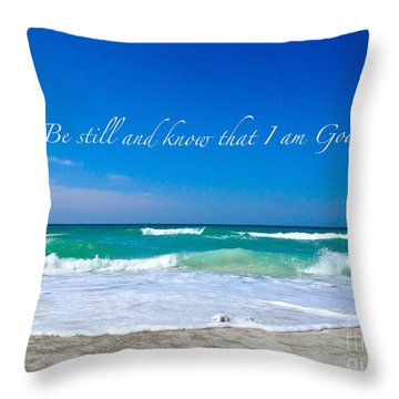 Be Still #4 Throw Pillow by Margie Amberge