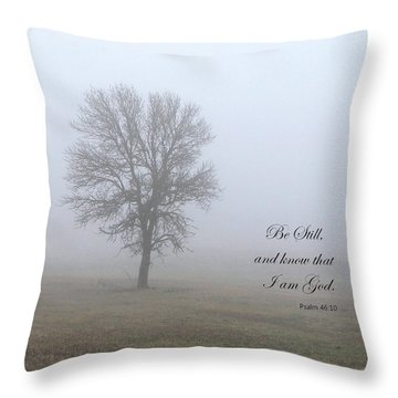 Be Still Throw Pillow by Angie Vogel