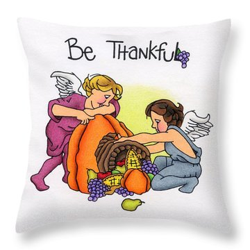 Be Thankful Throw Pillow