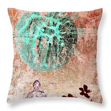 Throw Pillow featuring the painting Be The Buddha by Jacqueline McReynolds