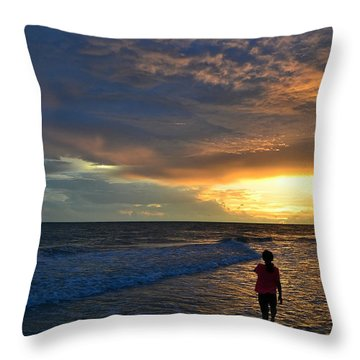Throw Pillow featuring the photograph Be Wonderful... Because You Are by Melanie Moraga