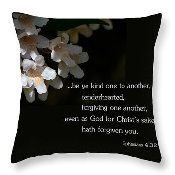 Be Ye Kind Throw Pillow by Larry Bishop