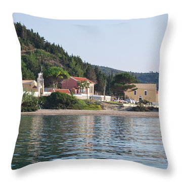 Beach 5 Throw Pillow by George Katechis