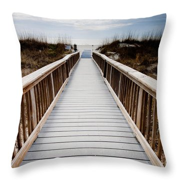 Beach Access Hilton Head Throw Pillow