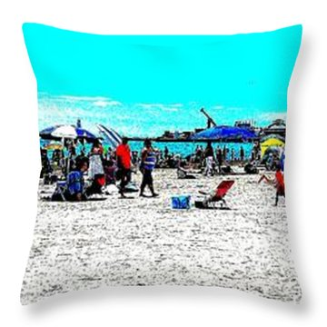 Beach And Carnival Throw Pillow