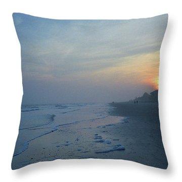 Beach And Sunset Throw Pillow