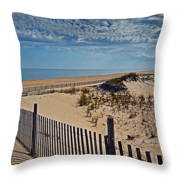 Beach At Cape Henlopen Throw Pillow