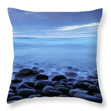 Beach At Dusk, Westward Ho, North Throw Pillow