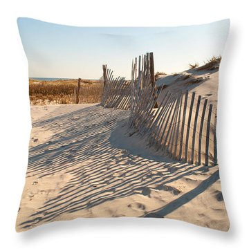 Beach At Lbi Throw Pillow
