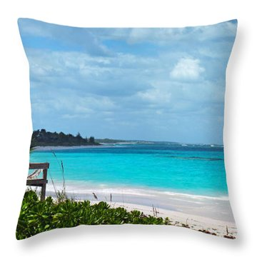 Beach At Tippy's Throw Pillow