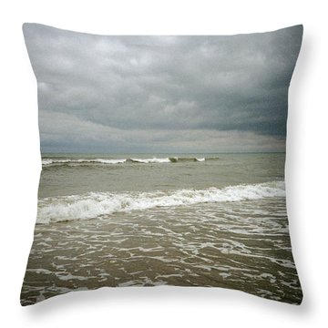 Beach Before The Storm Throw Pillow