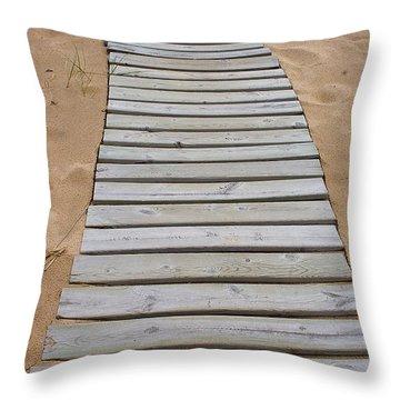 Throw Pillow featuring the photograph Beach Boardwalk by Randy Pollard