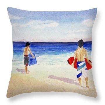 Beach Boys Australia Throw Pillow