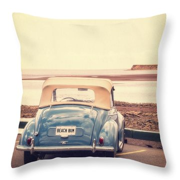 Beach Bum Throw Pillow by Edward Fielding